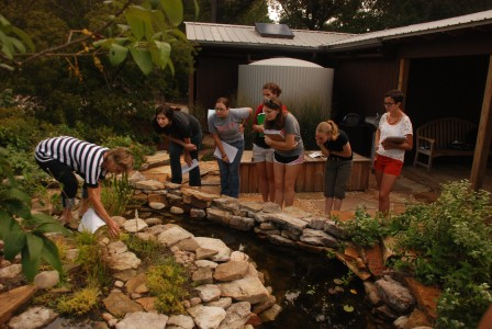 Photo of Students learning about stormwater management.