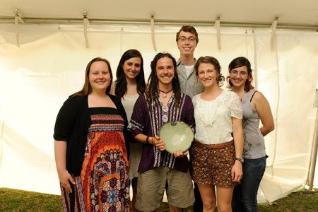 Photo of Student volunteers with Auburn Real Food Challenge with their Spirit of Sustainability Award.