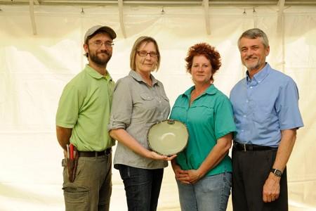 Photo of Donald E. Davis Arboretum Group staff with their Spirit of Sustainability Award