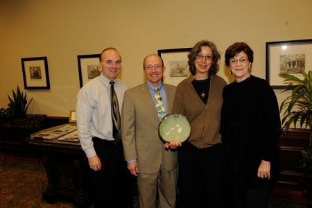 Photo of Award recipient Lindy Biggs (third from left) is picture here with Dr. Don Large - Executive VP and CFO of Auburn University
