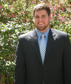 Photo of Nathan Warner, 2013 recipient of the William Olson Student Achievement in Sustainability Award.