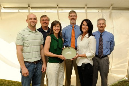 Photo of Representatives from OIT with their Spirit of Sustainability Award.