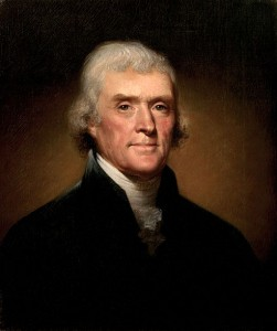 Picture Thomas Jefferson Painting by Rembrandt Peale, 1800