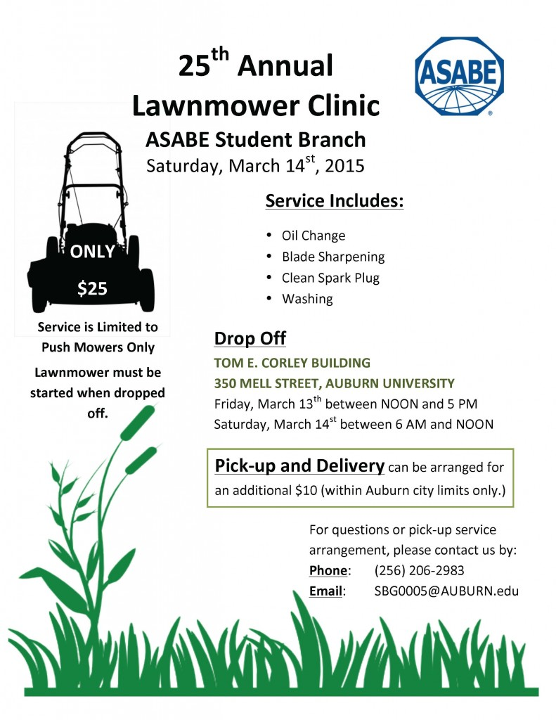 25th Annual Lawnmower Clinic @ Tom Corley Building