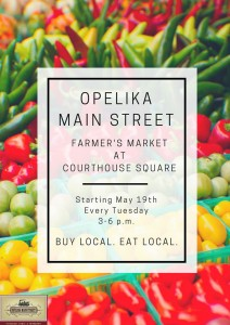 Opelika Main Street Farmers Market @ Lee County Courthouse Square | Opelika | Alabama | United States