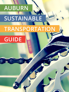 Image of the cover of the Auburn Sustainable Transportation Guide that links to the guide.
