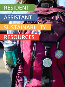 Photo of Resident Assistant Sustainability Resources Guide Cover