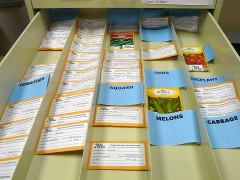 photo of A small sample of what the AU Seed Library has to offer.