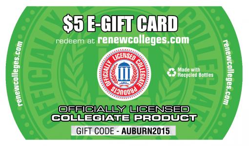 Photo of Renew $5 Gift Card_Auburn