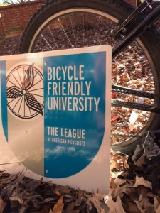 Auburn's Bike Friendly University sign!