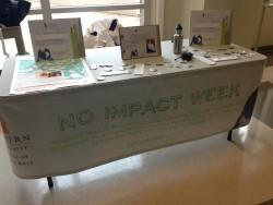 Photo of No Impact Week Table