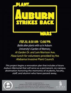 Plant Wars: Auburn Strikes Back @ Garden of Memory | Auburn | Alabama | United States