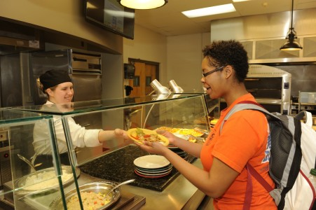 Students can get made to order food at many locations on campus.