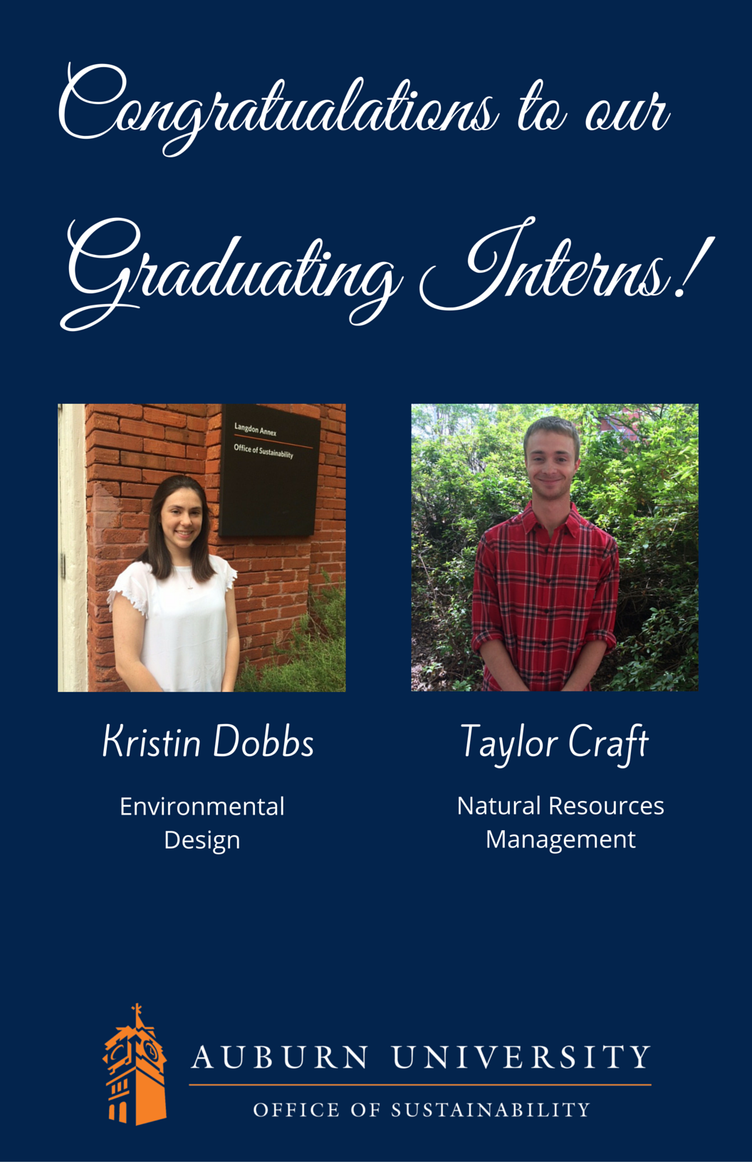 Photo of May 2016 Graduating Interns Annoucncement