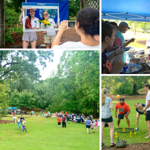 A photo collage of Sustainability Picnic happenings.