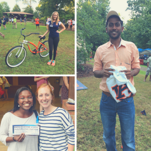 A photo collage of door prize winners from the Sustainability Picnic.