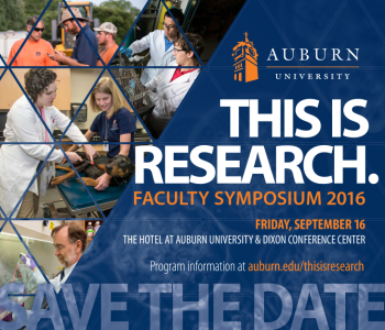 Announcement Image of the This is Research Faculty Symposium 2016