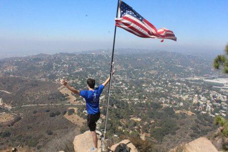 Ben Jones celebrating with a view.