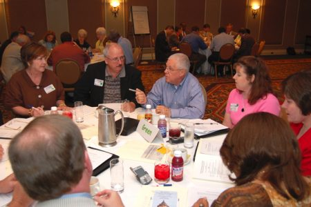 Photo of citizen roundtable discussion.