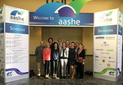 Picture of Office of Sustainability Interns & Staff at AASHE 2016 Conference