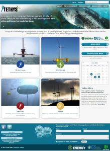 Image of Tethys Website Homepage