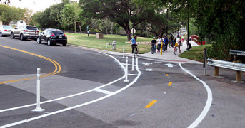 Picture of bike lanes.