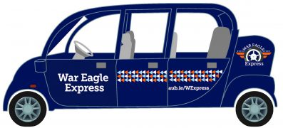 Graphic of War Eagle Express