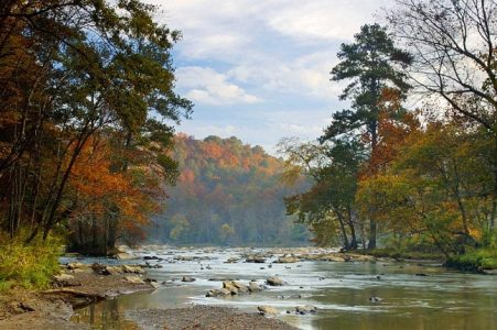 View of the Chattahoochee in Autumn.