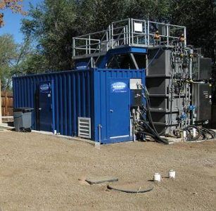 The Sequencing-Batch Membrane Bioreactor located at Mines Park in Golden, CO