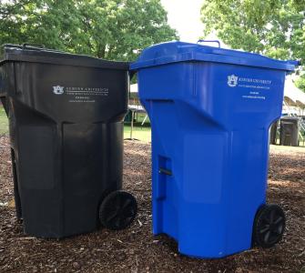 Recycling and Trash Bins