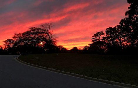 A Winter Sunset in Auburn, Alabama
