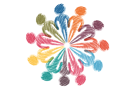 Graphic of people in a circle