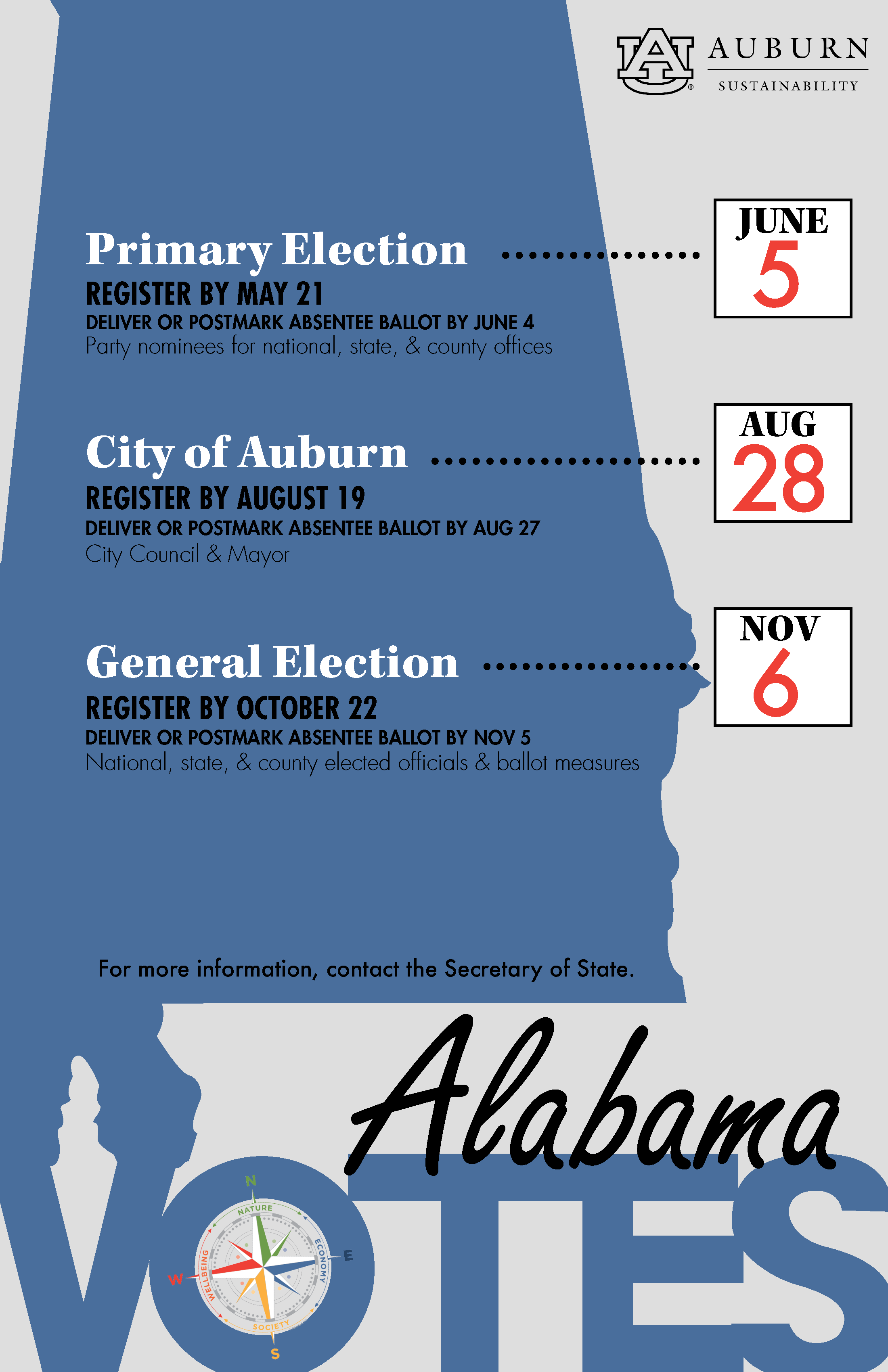 Image of Poster with Alabama 2018 Voting Dates