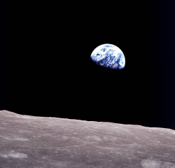 Earthrise Over the Moon photo