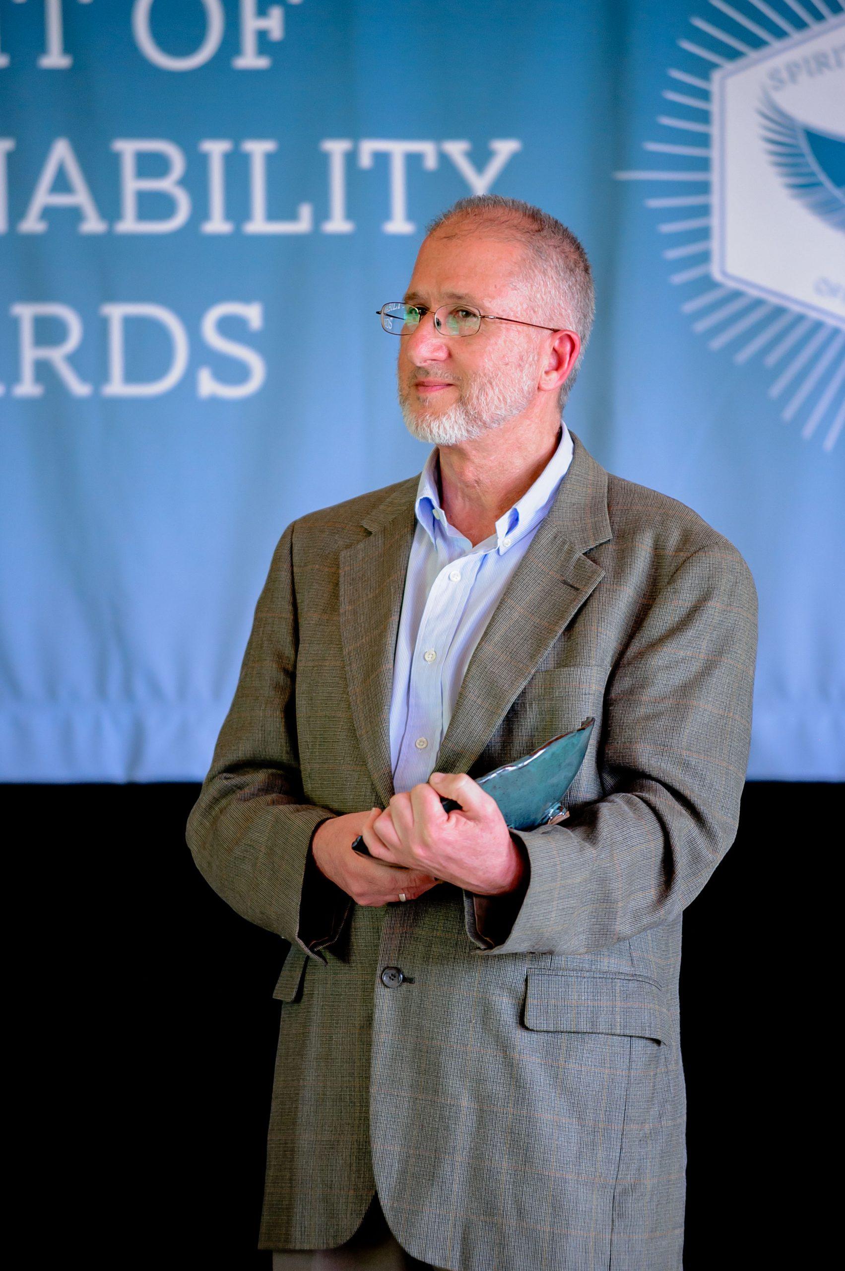 Mark Dougherty accepting his award.