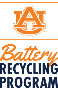 Logo for the Auburn University Battery Recycling Program