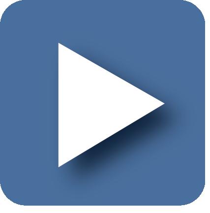 Blue You Tube Icon
