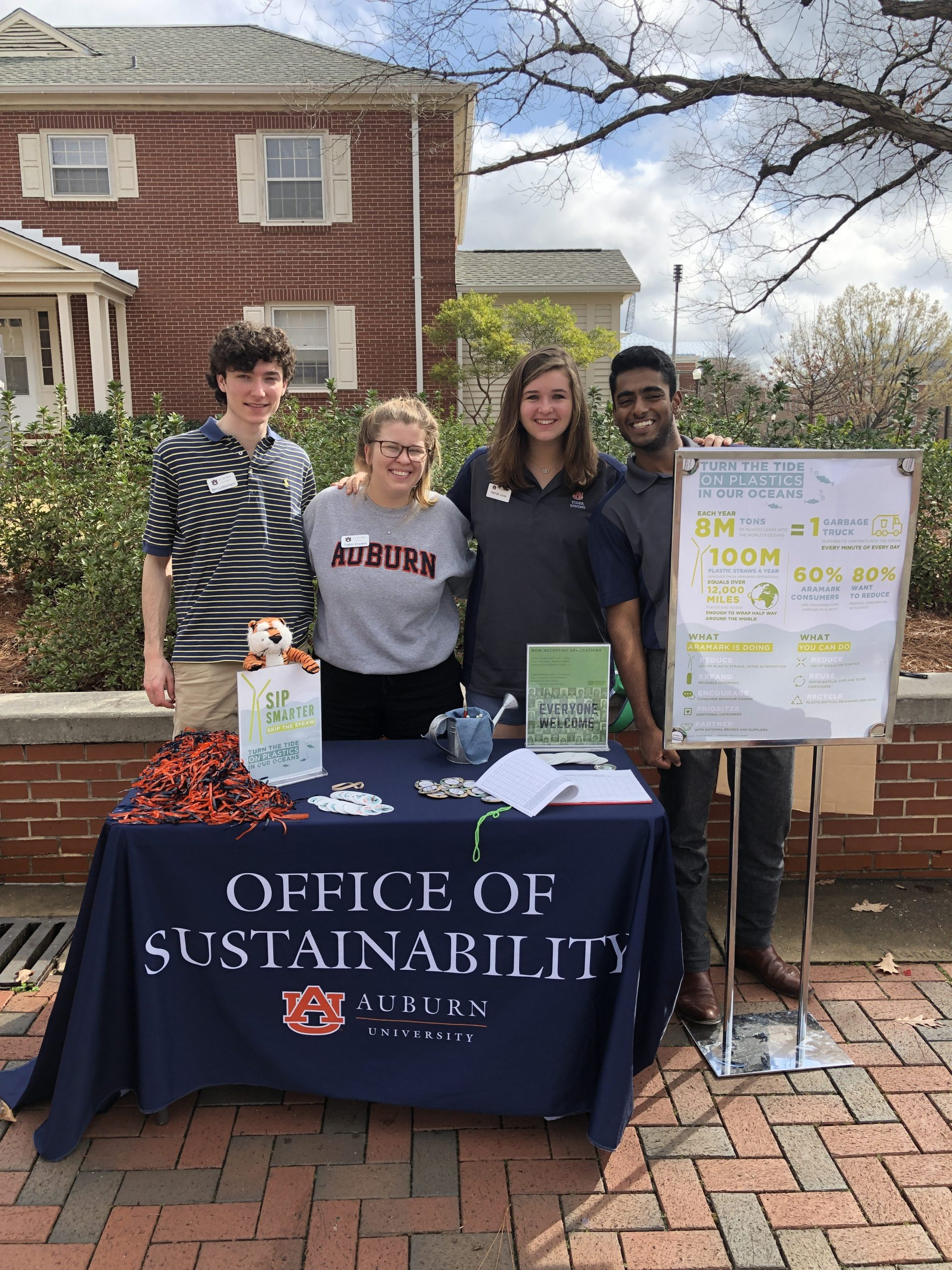 sustainability interns for skip the straw day