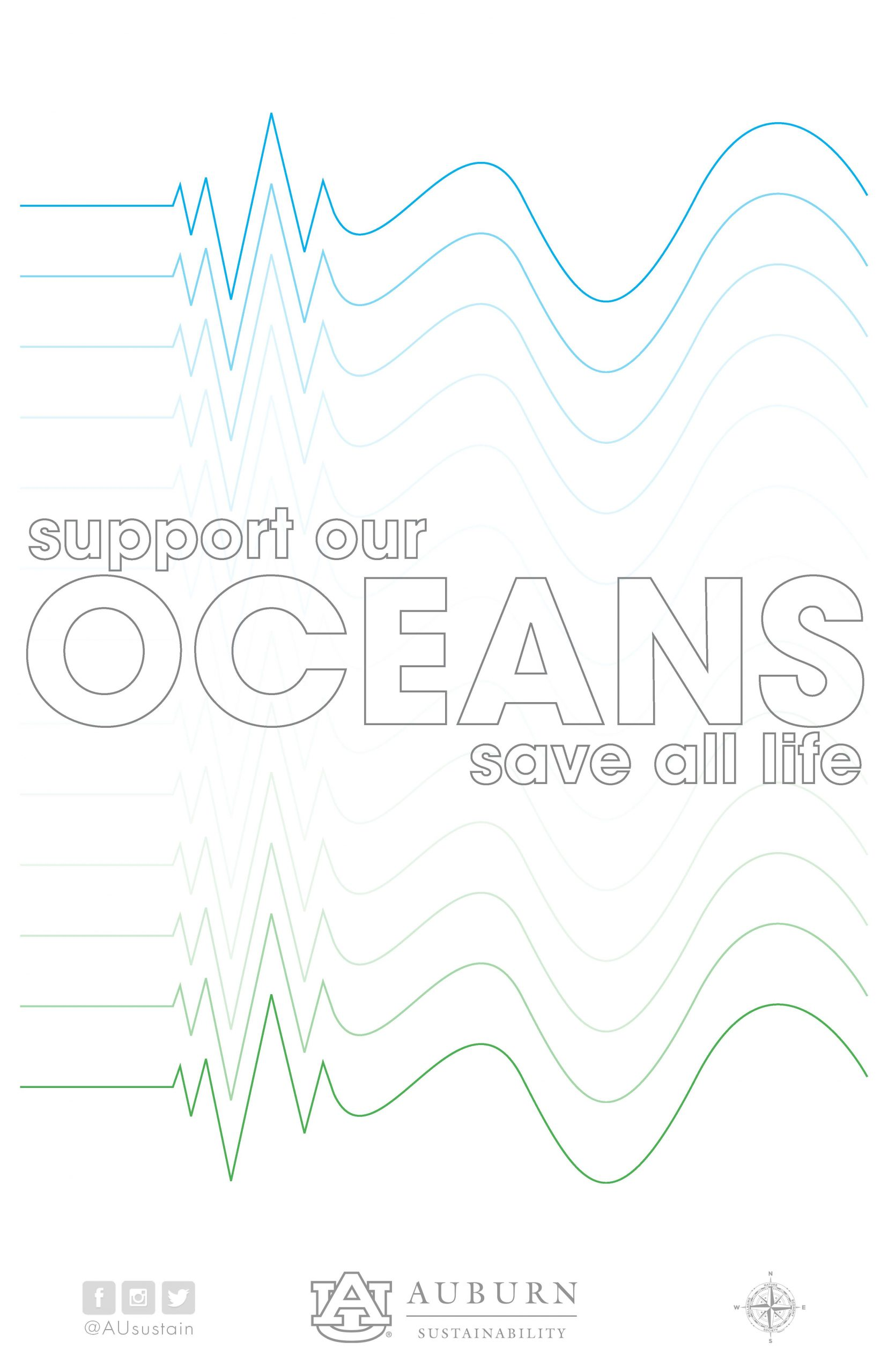 "Graphic reading ""Support Our Oceans: Save All Life"""