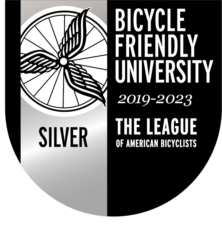 2019-2023 Bicycle Friendly University Silver Designation Logo