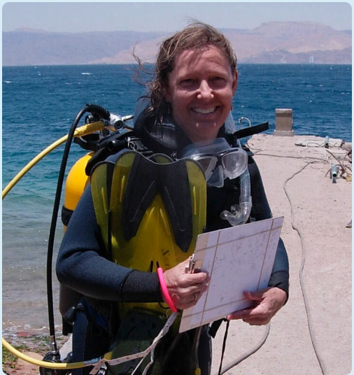 Dr. Nanette Chadwick studying coral reefs