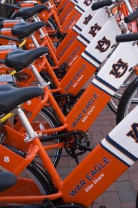 Photo of War Eagle Bike Share bicycles