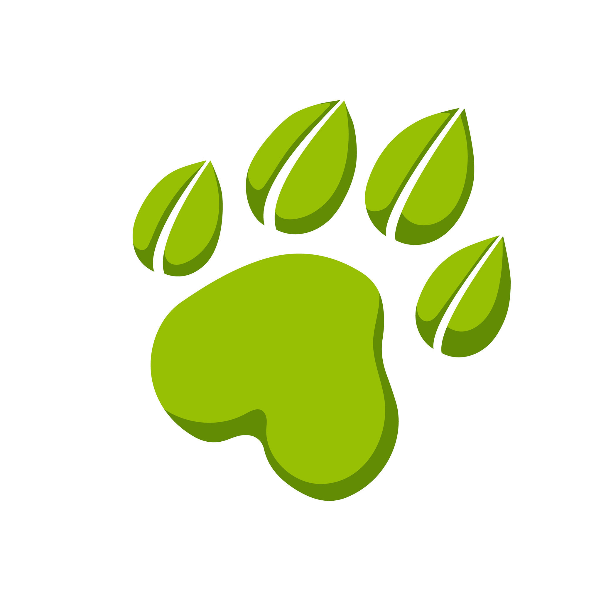 green pawprint logo of the permaculture tigers club