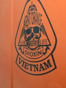 Orange illustration of toxic agent orange