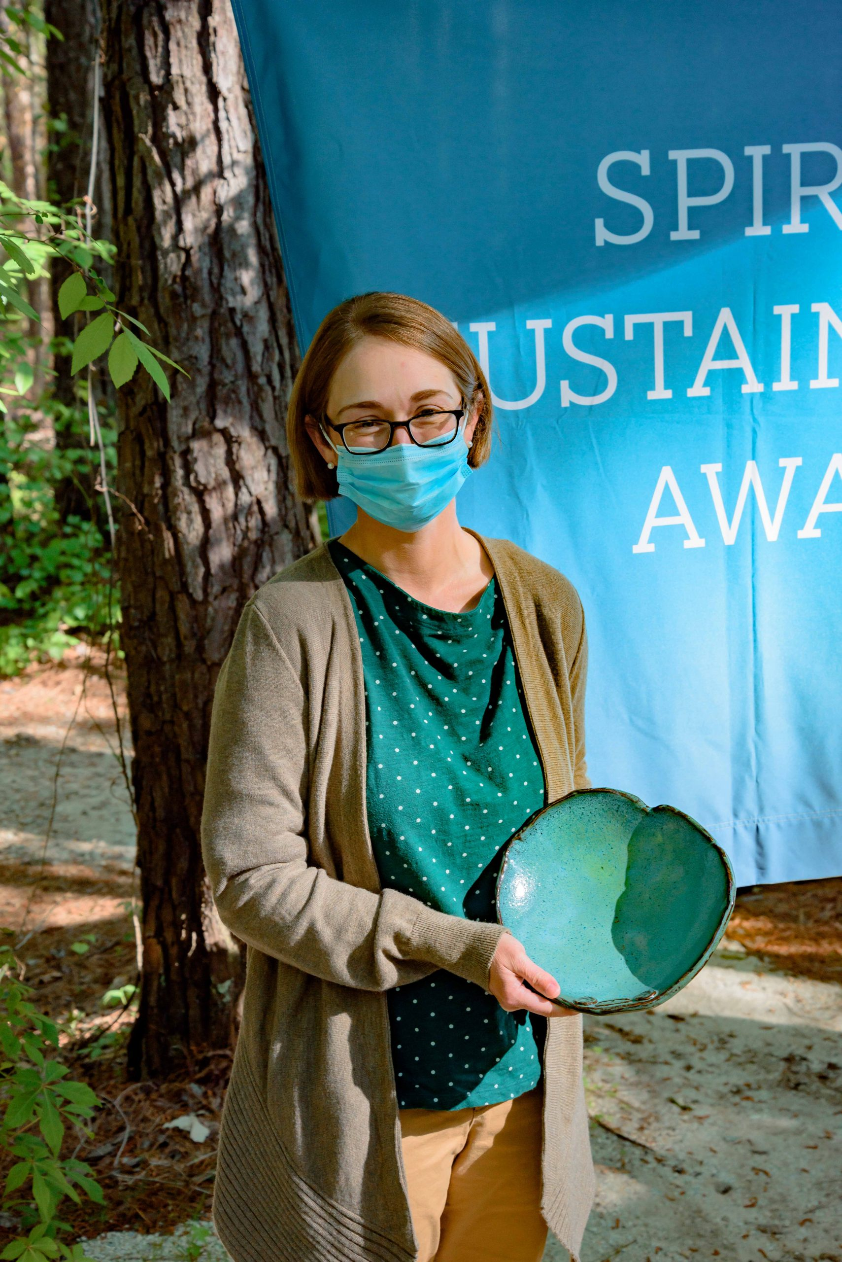 Photo of Anne Randle with her Spirit of Sustainability Award