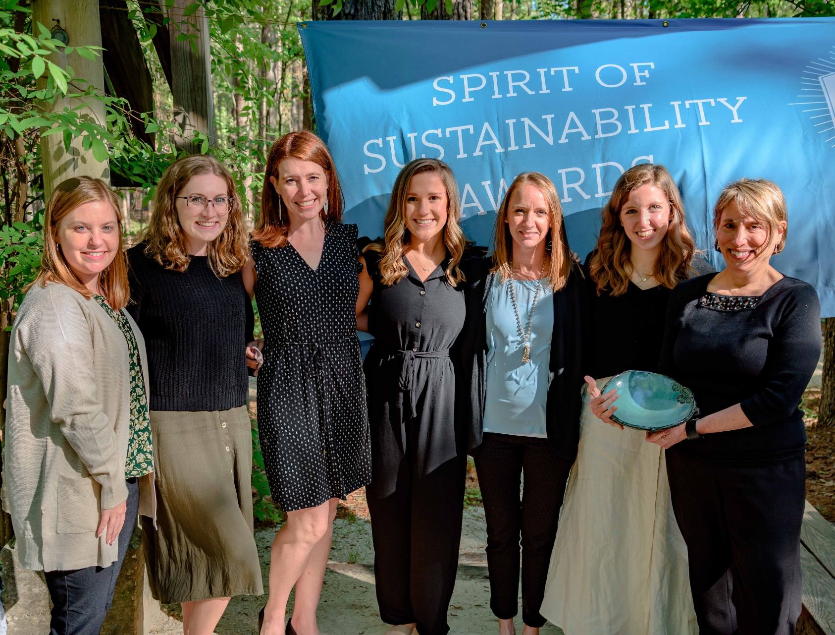 Photo of representatives from the Hunger Solutions Institute with their Spirit of Sustainability Award