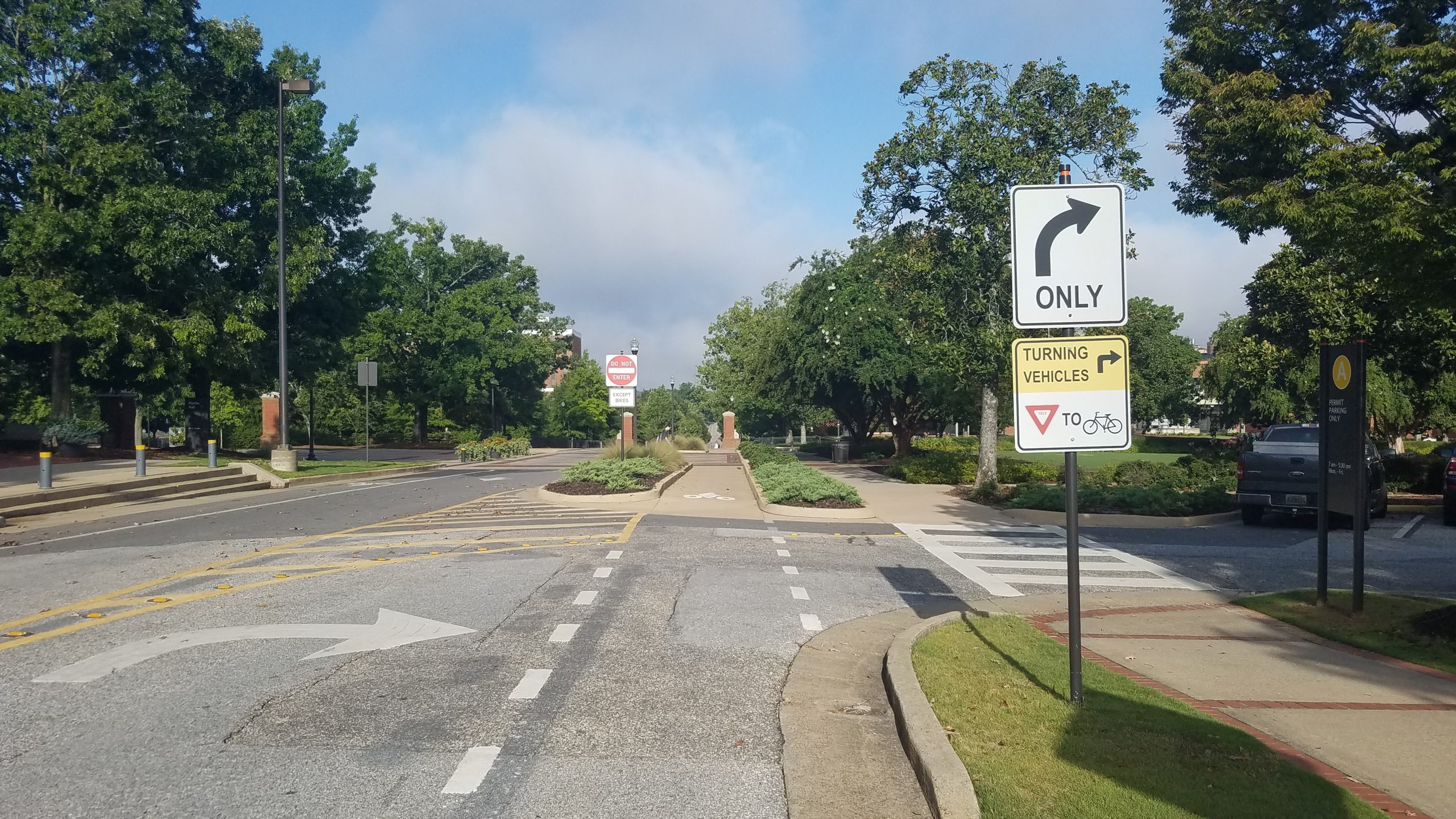 Photo of Ross Square road signs.