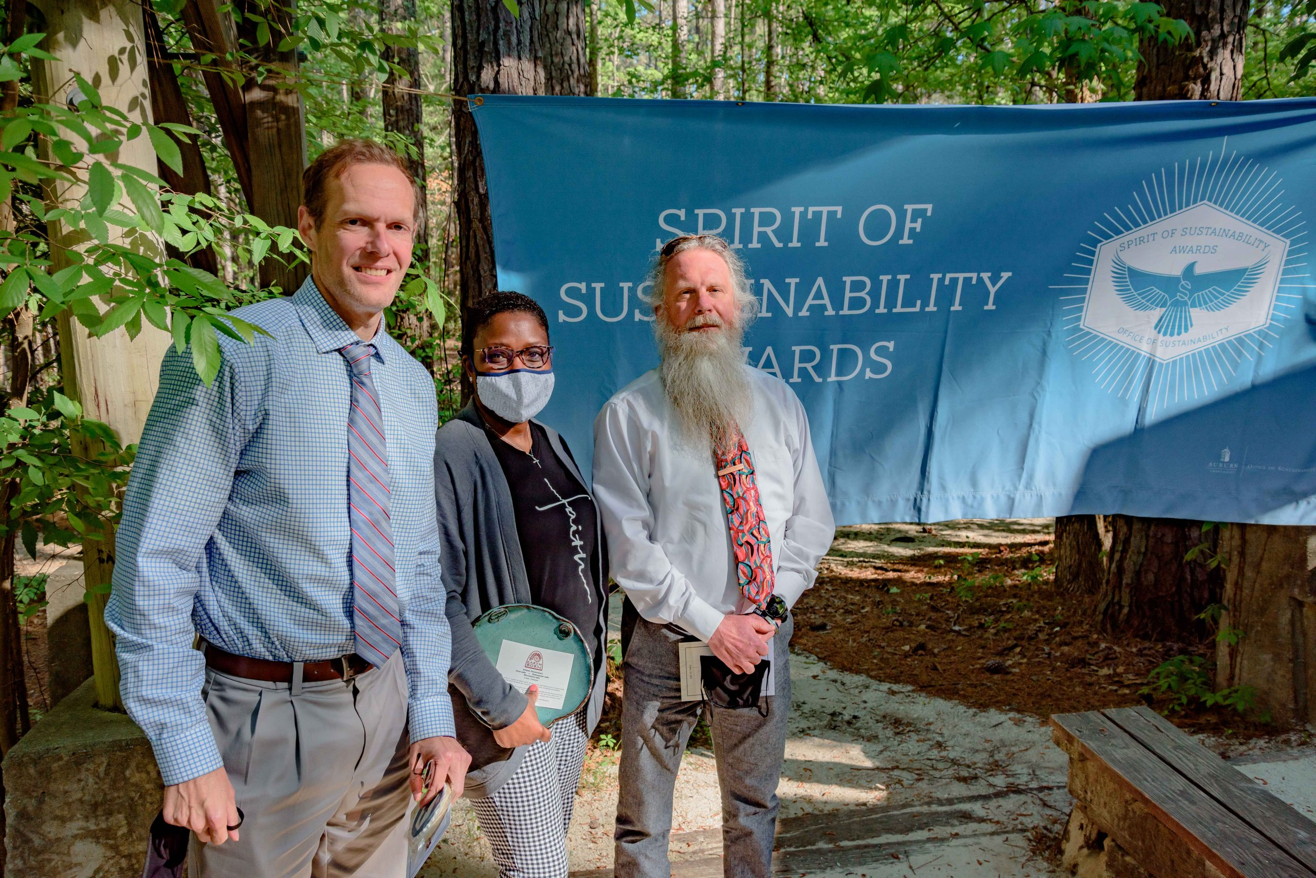 Staff from Student Counseling and Psychological Services with their Spirit of Sustainability Award