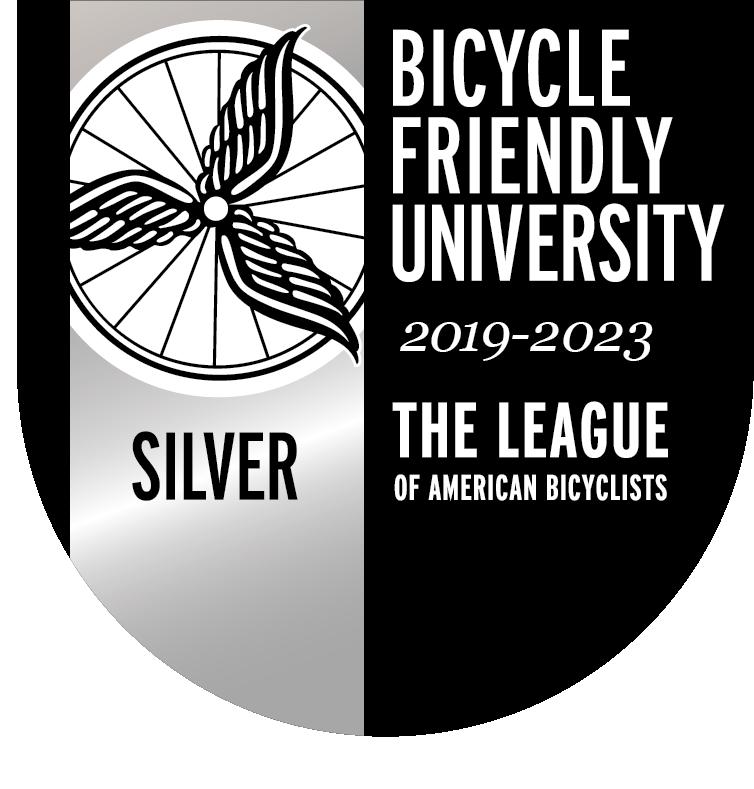Bicycle Friendly University Silver Designation Logo